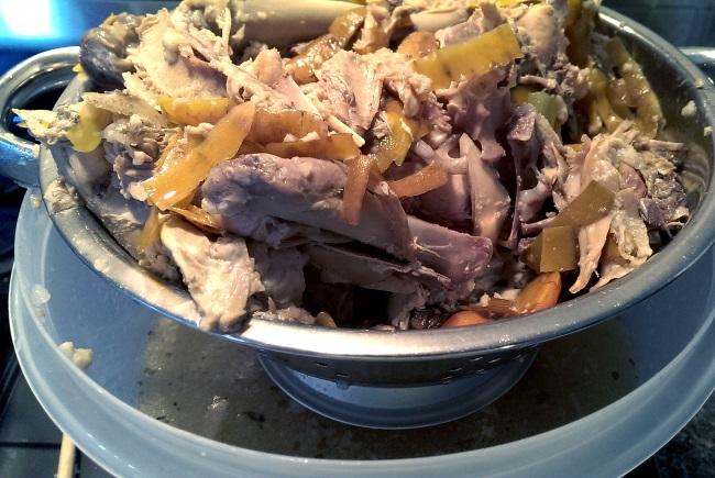 Turkey Chicken Carcass Draining
