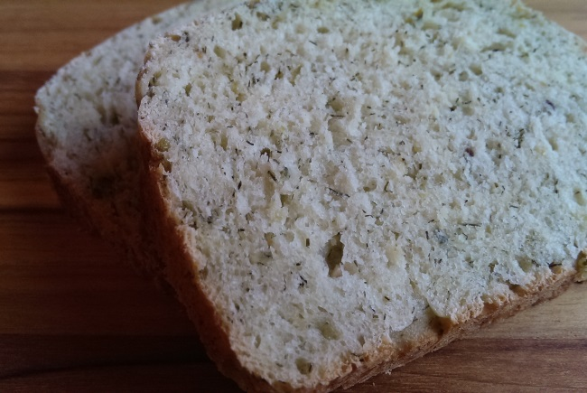 Sliced Dill Pickle Bread from scratch home-made no bread machine