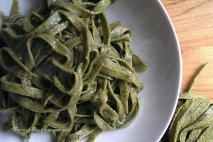 Whole Spelt Spinach Pasta