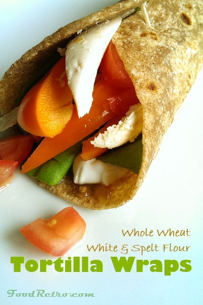 Simple Frugal Flatbread Wraps from Scratch