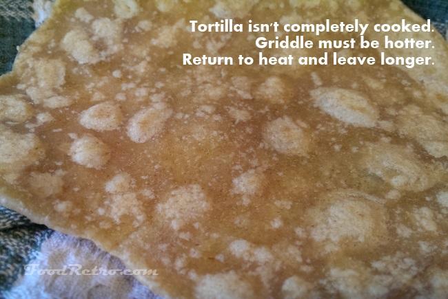 underdone tortilla