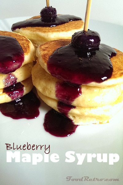 Blueberry Maple Syrup & Cute Pancake Appetizer Brunch Idea