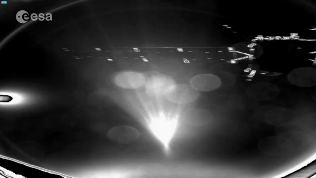 first photo from comet lander