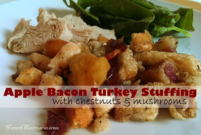 Apple Bacon Turkey Stuffing