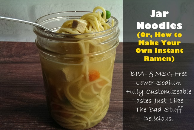 Jar noodles instant ramen - BPA Free, MSG Free, Gluten Free, Realfood
