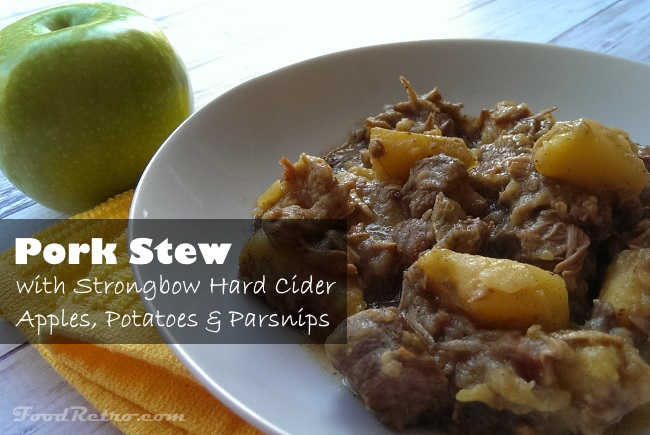 Pork Stew with Strongbow Hard Cider, Maple Bacon, Apples and Parsnips