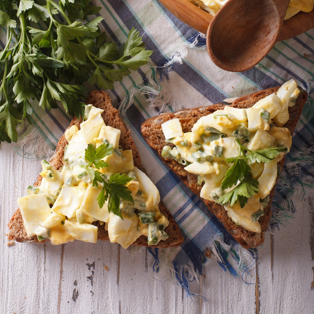 This classic egg salad makes a fast, easy, frugal meal that's big on taste. Serve it in a sandwich or as a simple appetizer.