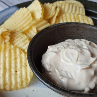 Super Simple Sour Cream and Onion Dip